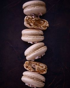 Salted Caramel & Hazelnuts Macarons. This combination somehow tasted like a Paris-Brest in a macaron...