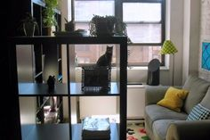 Organizing tools we love and use in our homes and with our clients! Exhibit A: Cube shelving!