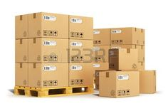 Creative abstract cargo, delivery and transportation logistics storage warehouse industry business concept
