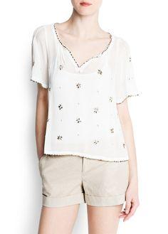 Crystals chiffon blouse