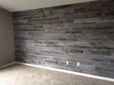 Awesome Accent Wall Ideas Can You Try at Home Stikwood. I love this product. Have it in my master bedroom and on the fireplace wall of my living room. Weathered Wood, Barn Wood, Reclaimed Wood Walls, Wood On Walls, Wood Accent Walls, Reclaimed Wood Wallpaper, Pallet Walls, Fireplace Wall, Living Room Remodel