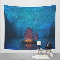 Our Secret Harbor Wall Tapestry by Aimee Stewart | Society6