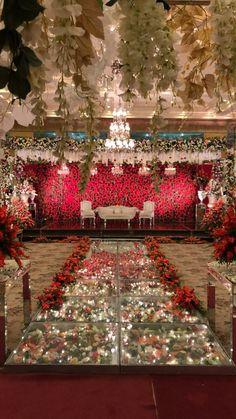 home interiors dream Pakistani Wedding Decor, Desi Wedding Decor, Wedding Hall Decorations, Luxury Wedding Decor, Marriage Decoration, Pakistani Mehndi Decor, Red Wedding, Wedding Ideas, Wedding Stage Backdrop