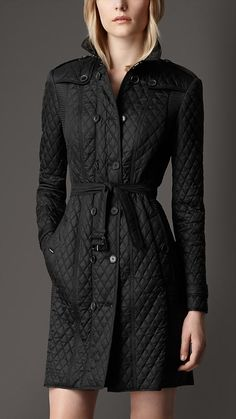 Long Quilted Trench Coat | Burberry