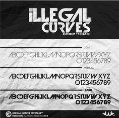 Illegal Curves Font by Weslo11.deviantart.com on @deviantART