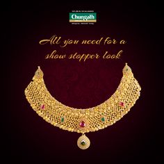 A perfect blend of creativity and craftsmanship Buy Now : https://www.chungathjewellery.com/gold/necklace/saharsha