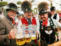 Oktoberfest- Munich, Germany is the world's largest beer festival that runs for 16 days from late September to the first weekend in October.