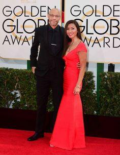 2014 Golden Globes John and Gayle Riddley (in a stunning dress)