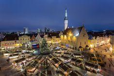 世界遺産 クリスマスマーケットの画像 エストニアの絶景写真画像  エストニア