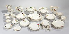 "Lot 459 - Burleigh Ware Art Deco tea and dinner service, ""Fragrance"" pattern. 57 pieces. ""Bishop & Miller Auctioneers , August 2016, GBP100-200 estimate."