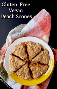 Gluten-Free Vegan Peach Scones • Healthy Helper