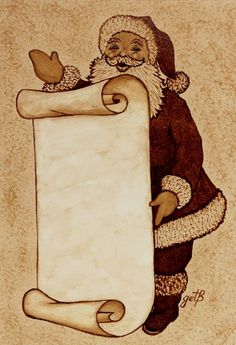 Items similar to Santa Claus Wishlist original coffee painting christmas holidays on Etsy Merry Christmas To All, Vintage Christmas, Christmas Holidays, Coffee Painting, Painting Art, Paintings, Santa Claus Is Coming To Town, Joy Of Life, Vintage Santas