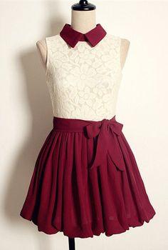 Vintage Lace Pleated Dress