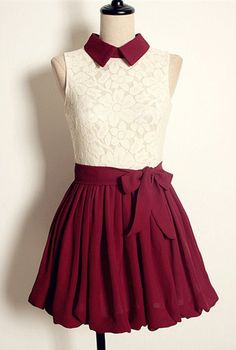 Vintage Lace Pleated Dress