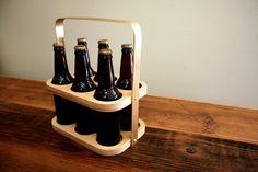 Brass Beer Caddy // Bottle Carrier // Modern Barware by weareMFEO, $45.00