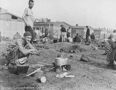 Camp survivors after liberation. Dachau, Germany, after April 29, 1945.