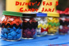 A Disney Mom's Thoughts: DIY Disney's Fab Five Candy Jars | A Disney Mom's Thoughts