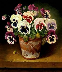 Jose Escofet (b. 1930) — Pansies (511×600)