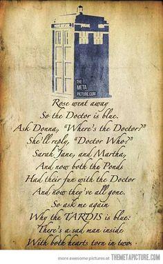 This is heart breaking. Poor old Doctor.