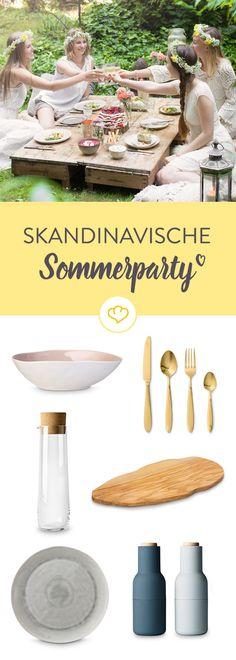 Feier wie die Schweden! Alles für deine Sommerparty im Scandi-Look!
