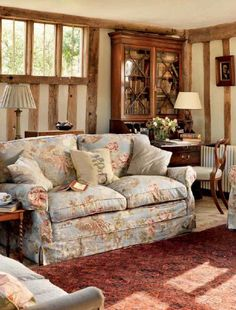 38 Ideas For Shabby Chic Living Room Cozy Cottage Style English Cottage Interiors, English Cottage Style, English Country Cottages, English Country Style, English House, French Country, French Cottage, Style Anglais, English Decor
