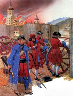 Peter the Great's Russian Artillery crew, Great Northern War