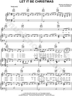 Away In a Manger (by Craig Petrie -- TTBB) | Christmas | Music, Piano music, Away in a manger