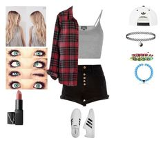 """""""Untitled #3068"""" by pinki123456 ❤ liked on Polyvore featuring River Island, Topshop, Madewell, adidas and NARS Cosmetics"""