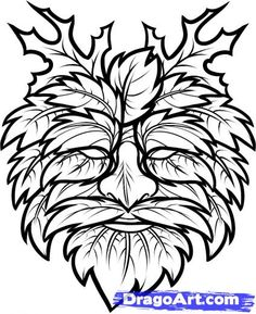 green man | Step 7. How to Draw the Green Man, Green Man