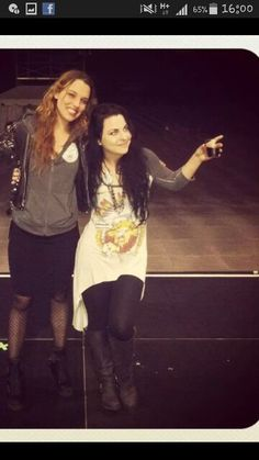 Lzzy Hale of Halestorm and Amy Lee of Evanescence