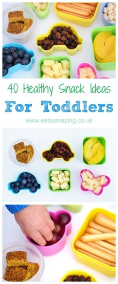 40 healthy snack ideas for toddlers – quick and easy kids food ideas to pack for… 40 healthy snack ideas for toddlers – quick and easy kids food ideas to pack for on the go – Eats Amazing UK Healthy Toddler Snacks, Toddler Lunches, Healthy Snacks For Kids, Healthy Foods To Eat, Toddler Food, Toddler Dinners, Kid Lunches, Kid Snacks, Party Snacks