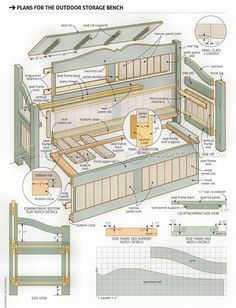 Outdoor Storage Bench Plans - Furniture Plans Outdoor Furniture Plans