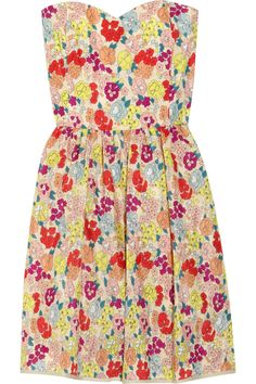 Thread Social Strapless floral-print dress - 60% Off Now at THE OUTNET