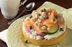 gorgonzola bagels and lox recipe | Valentine's Day recipes