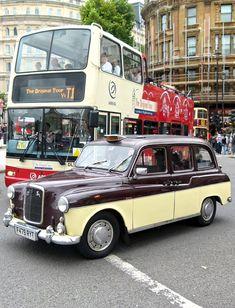 Taken at Trafalgar Square, August Sadly this taxi is no longer in service. Trafalgar Square, London Transport, Vintage Trucks, The World's Greatest, Tour Guide, Transportation, Wheels, Tours, Explore