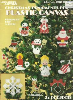 PLASTIC CANVAS / LEISURE ARTS CHRISTMAS ORNAMENTS 24 PROJECTS