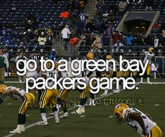 Was able to do this in 2013!! Just a pre-season but it's still Lambeau!!