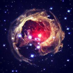 """Google+   Imagen de La estrella """"V838 Mon"""" que se convirtió en el astro más brillante, de la galaxia en la Vía Láctea, en enero de 2002. En la imagen se muestra un destello estelar como nunca se había visto antes, supernovas y novas expulsan materia al espacio. Foto: Reuters/NASA"""