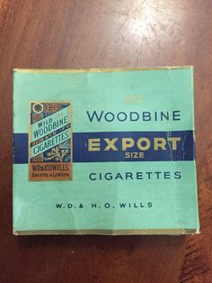 Vintage Woodbine 20 Export Empty Cigarette Packet