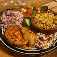Sugar Pink Food: Slimming World Recipe:- Nandos Style Peri Peri Chicken & Spice Rice Healthy Dinner Recipes, Diet Recipes, Healthy Snacks, Chicken Recipes, Healthy Eating, Cooking Recipes, Recipies, Diet Tips, Slimming World Dinners