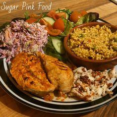 Sugar Pink Food: Slimming World Recipe:- Nandos Style Peri Peri Chicken & Spice Rice Slow Cooker Recipes, Diet Recipes, Chicken Recipes, Cooking Recipes, Healthy Recipes, Recipies, Diet Tips, Slimming World Dinners, Slimming World Recipes