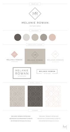 Melanie Rowan Interiors - Hadley Binion Designs - My Recommendations Brand Identity Design, Branding Design, Design Visual, Design Design, Logo Minimalista, Branding Template, Website Design Layout, Brand Book, Brand Style Guide