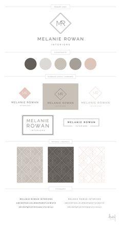 Melanie Rowan Interiors - Hadley Binion Designs - My Recommendations Brand Identity Design, Branding Design, Design Visual, Design Design, Branding Template, Website Design Layout, Brand Style Guide, Brand Book, Marca Personal