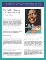 Use these discussion questions and activities with the inspirational biography Michelle Obama: An American Story by David Colbert. http://www.teachervision.fen.com/political-figures/printable/72693.html #FirstLady #Biography