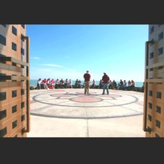 View from Madonna Della Strada chapel at Loyola University-- doors open to Lake Michigan
