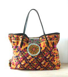 extra large tote ethnic bag tribal bag indian bag di fairlyworn, $195.00