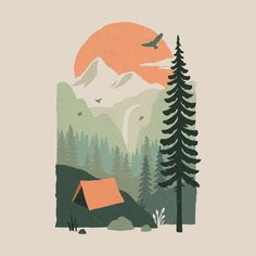 Shop graphic tees, artwork, iphone cases, and more designed by the worldwide Threadless community. Illustration Noel, Graphic Design Illustration, Mountain Illustration, Graphic Art Prints, Pattern Illustration, Character Illustration, Digital Illustration, Painting Inspiration, Art Inspo