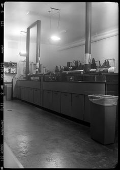 A commercial darkroom