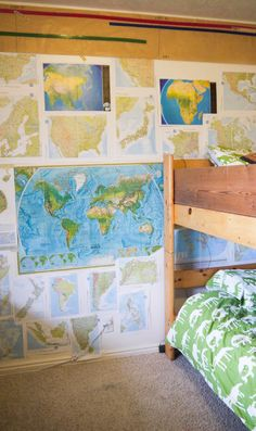 boys' room - I love the map idea
