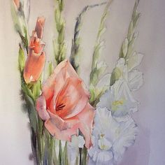 Гладиолусы.  #рисую_все_что_вижу #art #artist #paint #draw #watercolor #watercolorpainting #acuarela #aquarelle #aquarell #topcreator #art_we_inspire #process_of_creativity #artstagram #worldofartists #global_artist #artworks_artist #arts_gallery #arts_help #skrien #gladiolus #glaieul #fleurs #flowers #гладиолусы #цветы #акварель #winsornewton #sennelier #lanaquarelle